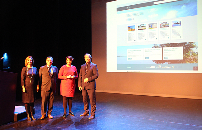 Burgemeesters presenteren website